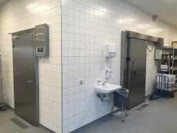 Jyske Bank Silkeborg Automatisk skydedøre i rustfri og tillempet brand