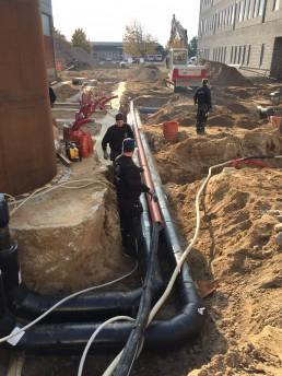 Jyske Bank Silkeborg CO2 rør ligges i jord