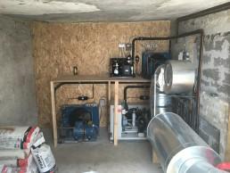 Lagkagehuset Risskov Maskinskur med udsugning fra kondensator